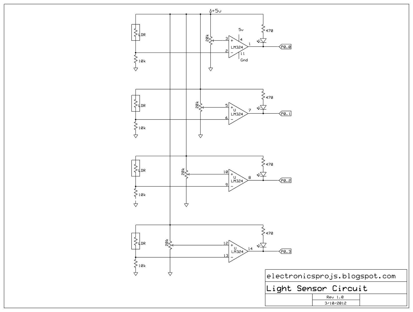 Electronics Projects Light Following Robot Photo Of Sensor Circuit Detection