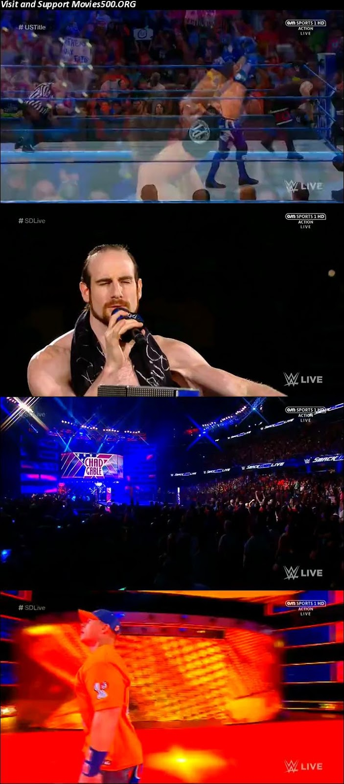 WWE Smackdown Live 01 Aug 2017 HDTV Full Show Download 720p at xcharge.net