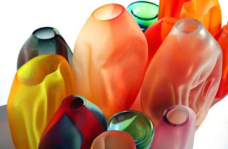 Jarrones de colores Jarrones de cristal