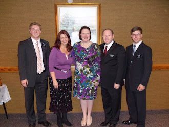New Baptism With Elder North and Mission President and Wife