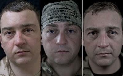 cambios en el rostro luego de la guerra