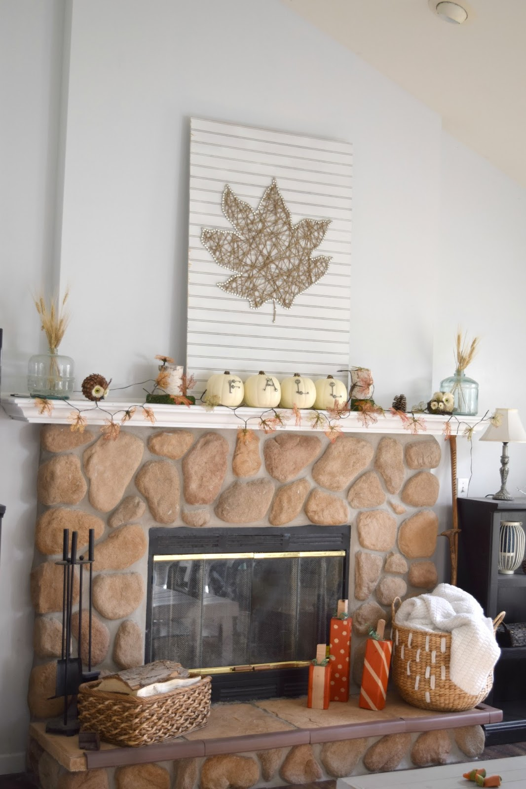 Fall Oween Home Tour Hop Our House Now A Home Edition O Our House . Fall  Fireplace Decor ...