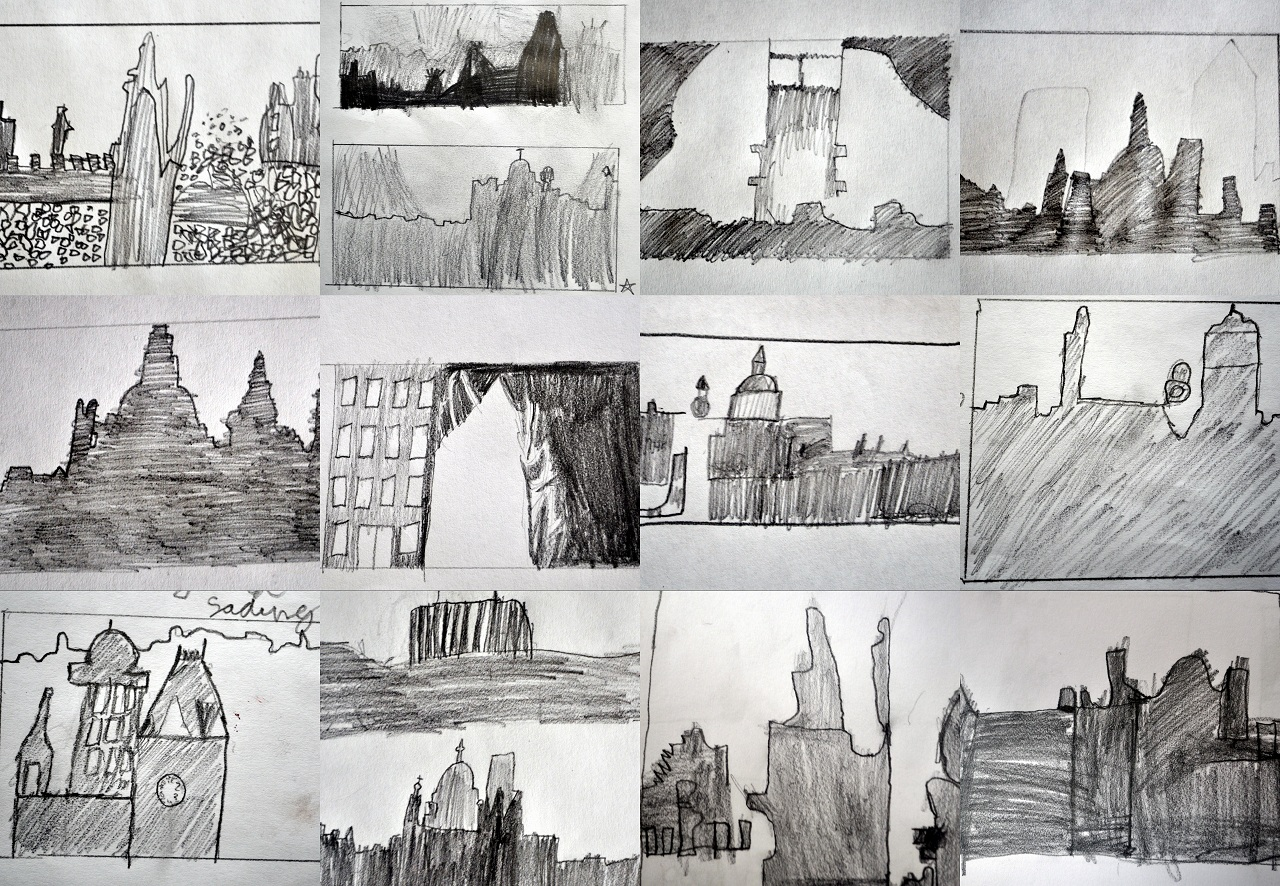 Line Drawing Ks2 : Ww paintings based on the blitz and dresden primary