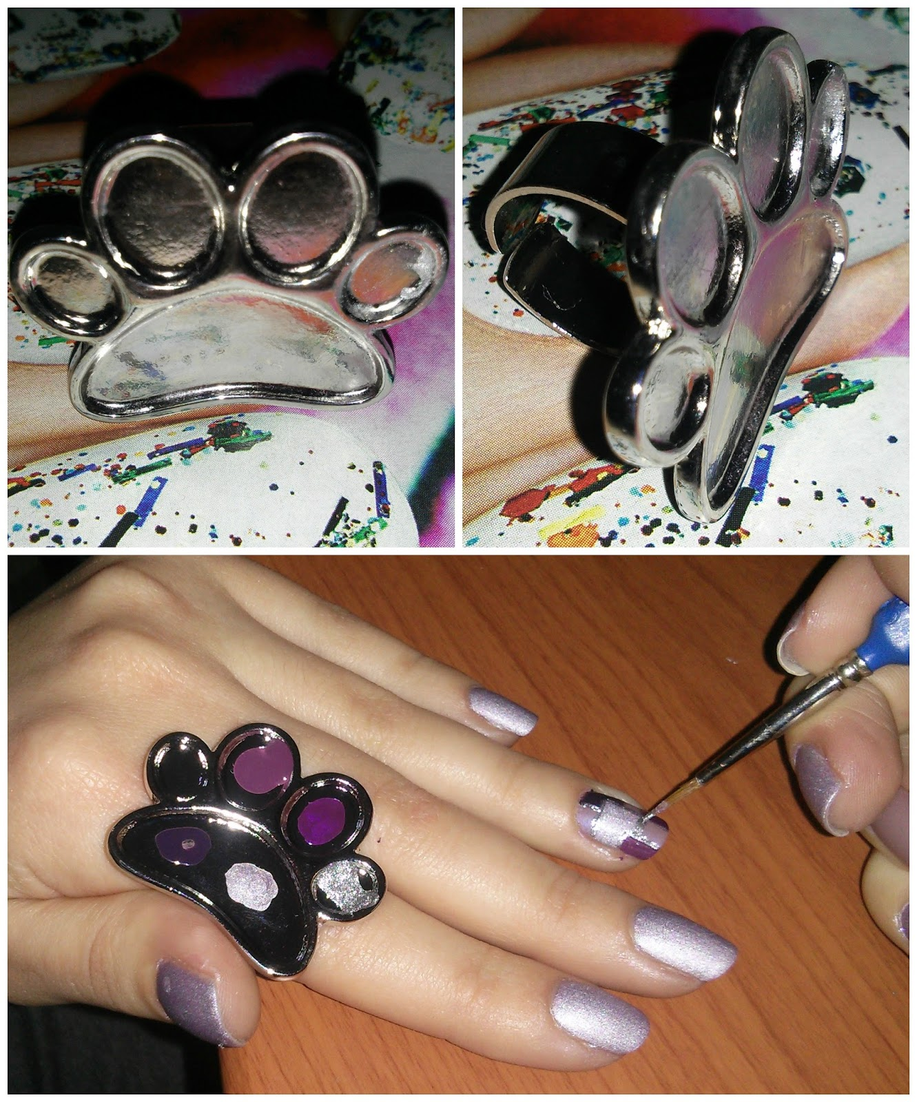 Review | Born Pretty Store Nail Art Palette Metal Ring - Every ...