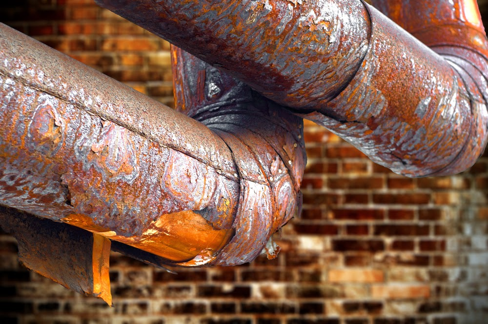 Keep an eye out for rust or pipe corrosion