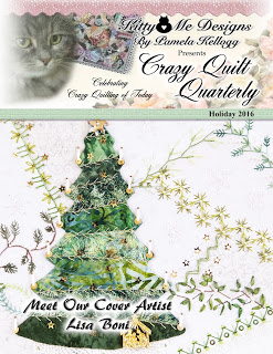 I was published in the Holiday 2016 Issue of Crazy Quilt Quarterly Magazine