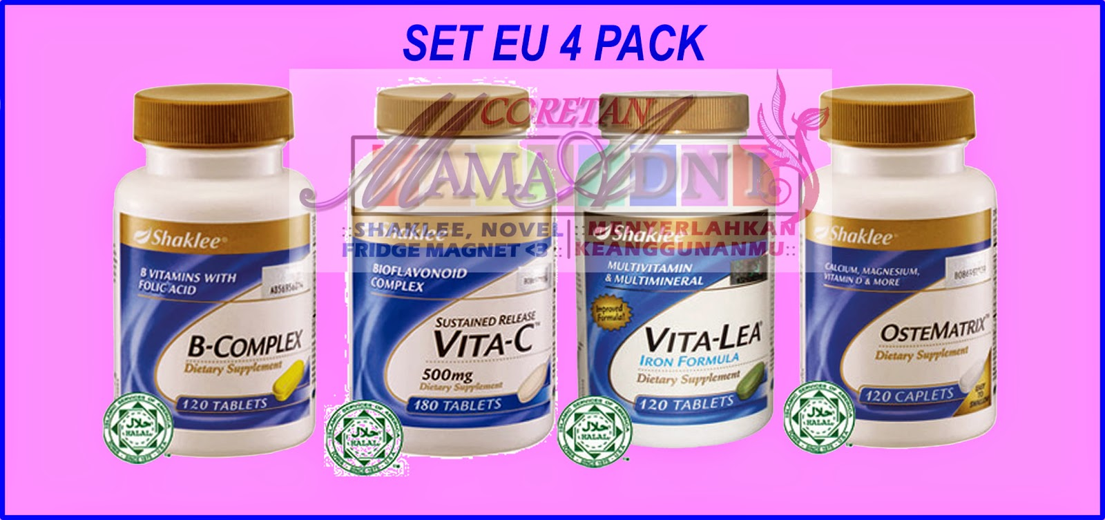 Vitamin Untuk Ibu yang Bekerja : Set Eu-Four Pack Menjadi Pilihan