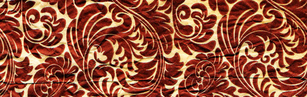 力強い赤が印象的 | 高級感あるペイズリー柄フリーテクスチャー素材