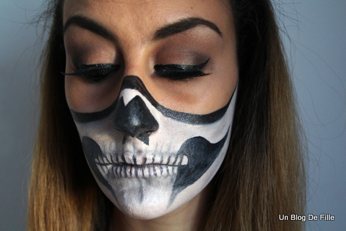 maquillage squelette yeux