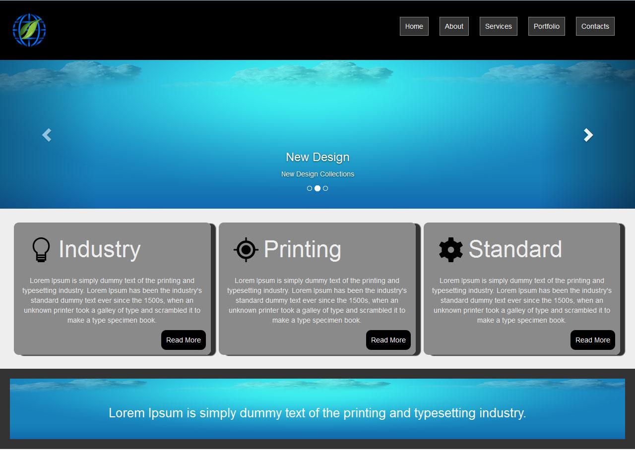 Responsive website design responsive newsletter template for Responsive stylesheet template