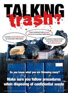 Confidential waste poster