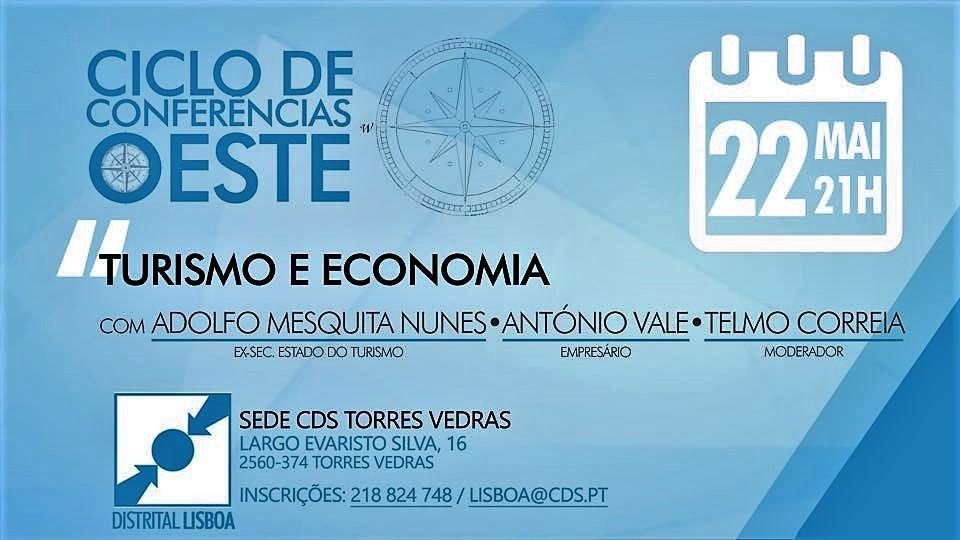 22 de maio, 21h: Torres Vedras