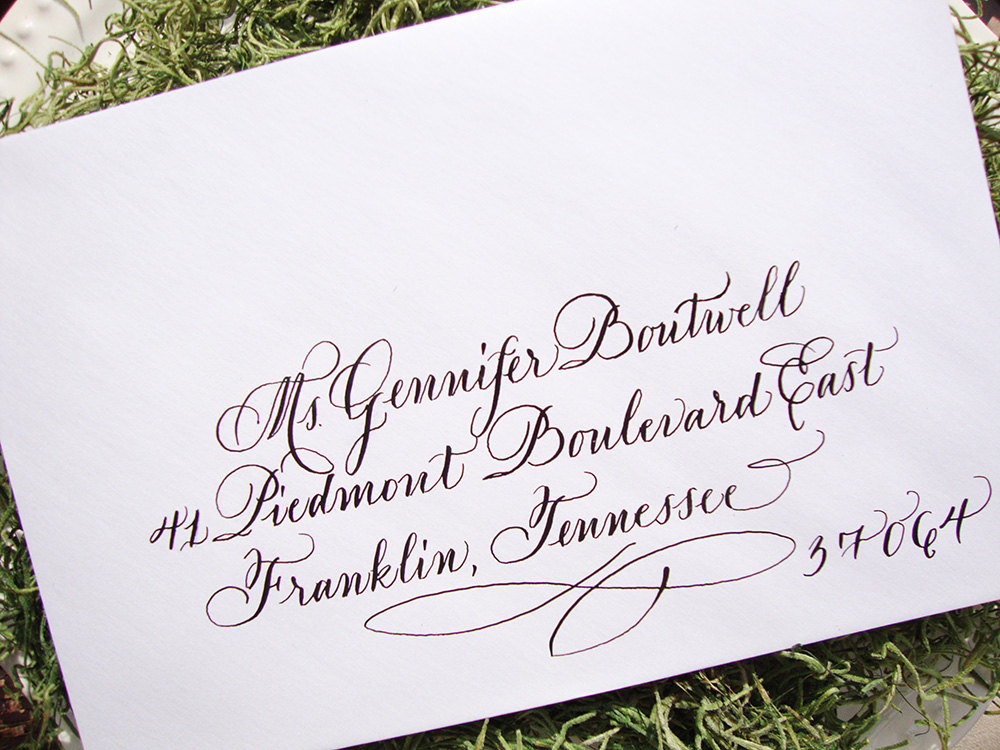 Calligraphy alphabet wedding fonts