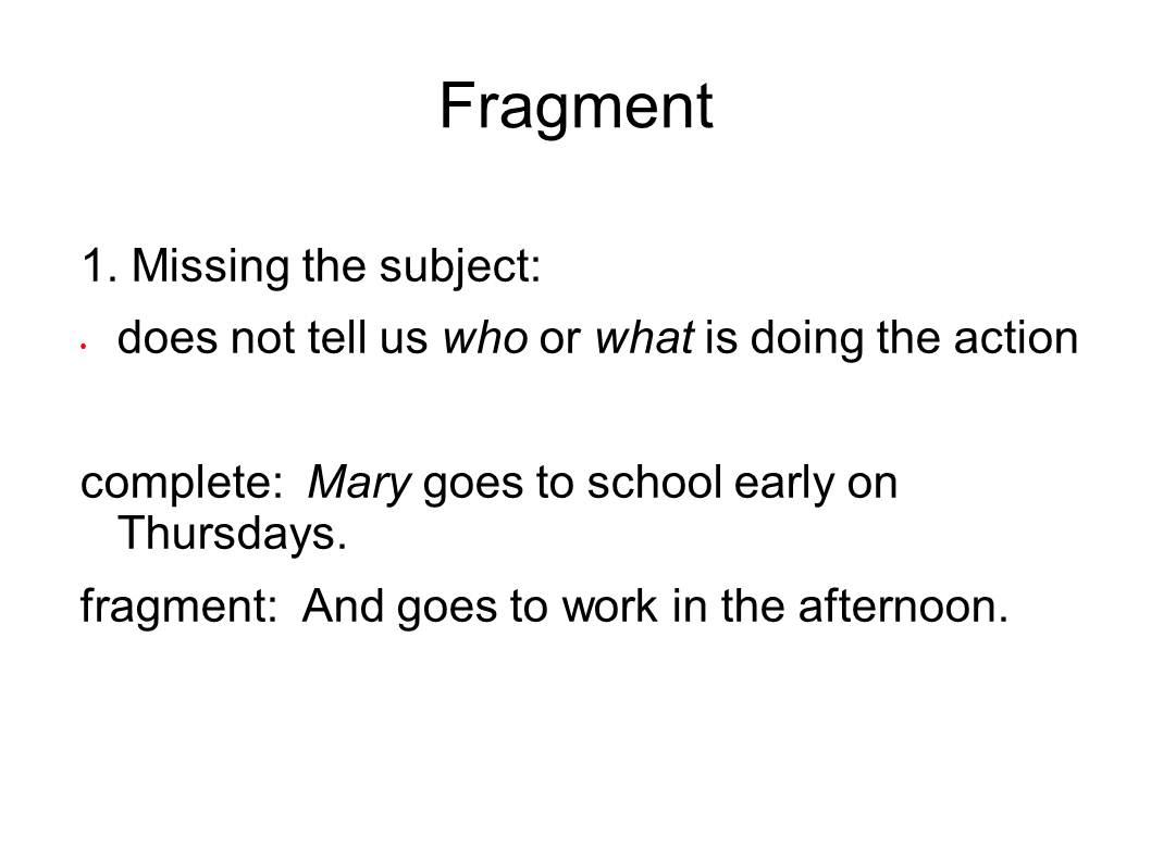 Sentence Fragments And Run Ons Worksheet  Worksheet & Workbook Site