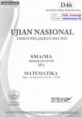 blog berbagi dan belajar akan membagikan file pembahasan soal UN Matematika SMA  Pembahasan Soal UN Matematika SMA Program IPA 2012 (TRIK SUPERKILAT) (Paket D46)