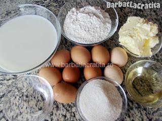 Prajitura cu vanilie ingrediente reteta