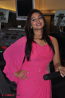 Tamil Actress Varsha Ashwathi Picture Gallery in Pink Long Dress at a Pressmeet  0012.jpg