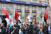 Manifestación da CIG Banca na Coruña o 15 de novembro 2011