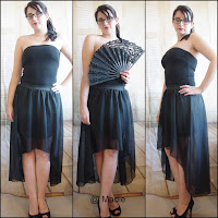 Outfit All Black vokuhila Skirt