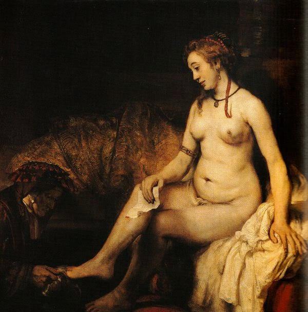 Bethsabée au bain de Rembrandt, 1654