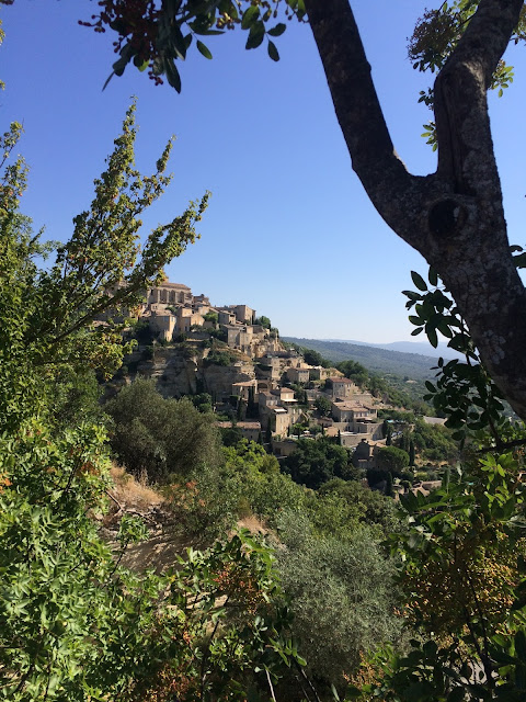 gordes hillside view provence - france