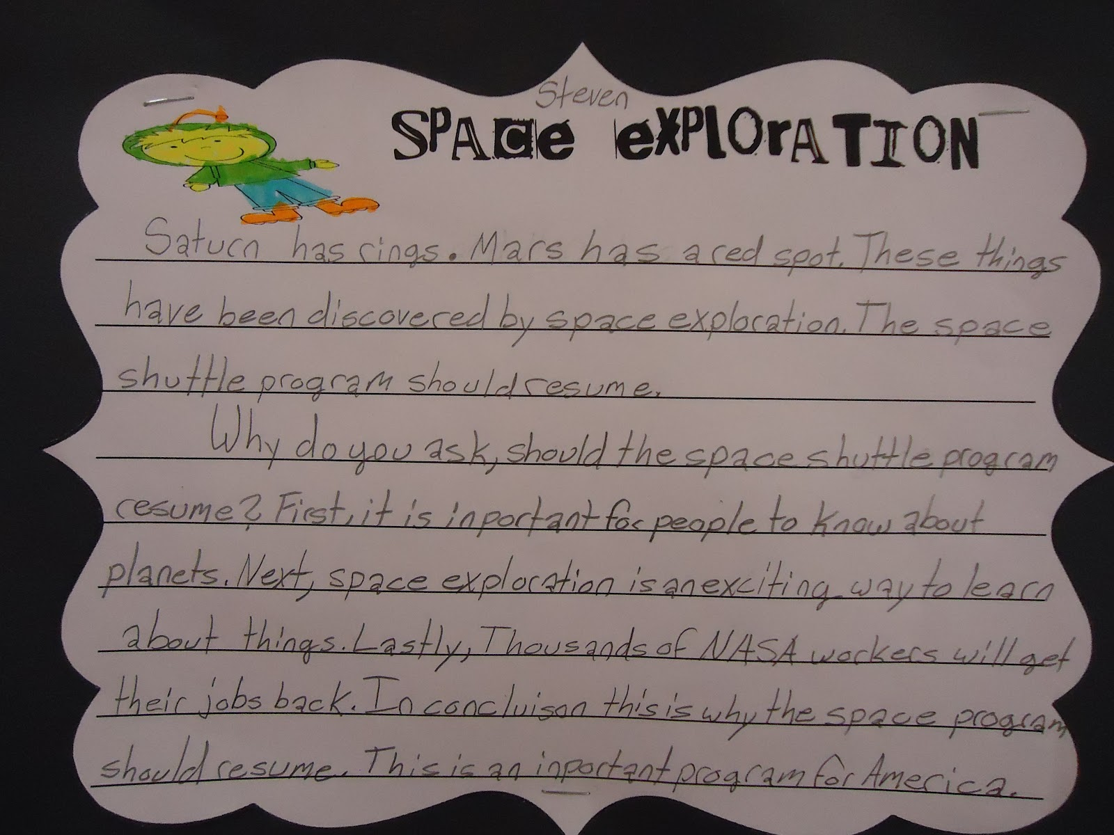 Stellar Students: Space-y Persuasive Writing