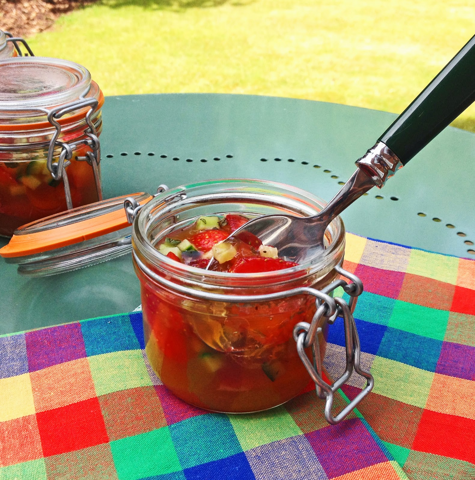 Pimm's jelly jars