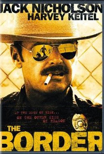 Jack Nicholson on The Border poster