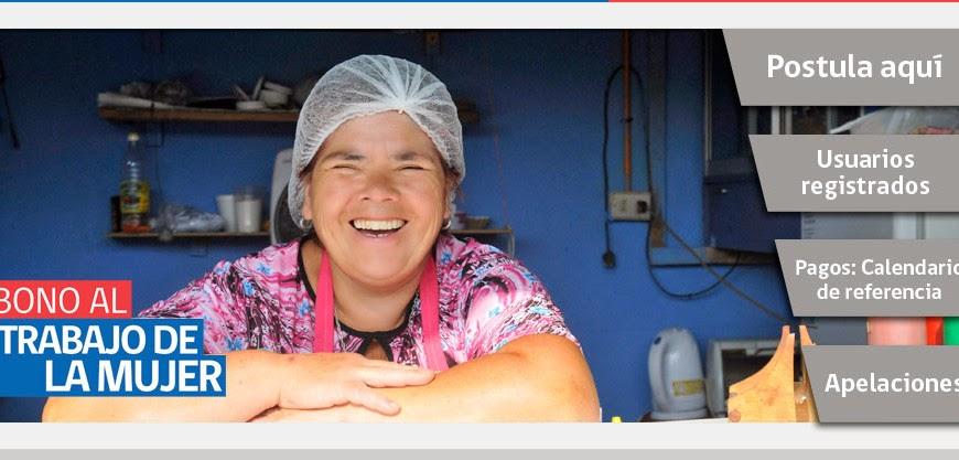 donde y como me inscribo para postular al bono trabajo mujer chile 2014