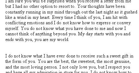 Valentines day love letter to girlfriend sample letters altavistaventures Images