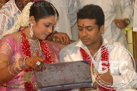 Southindian Filim Actors And Actresses Surya And Jyothika Wedding Album