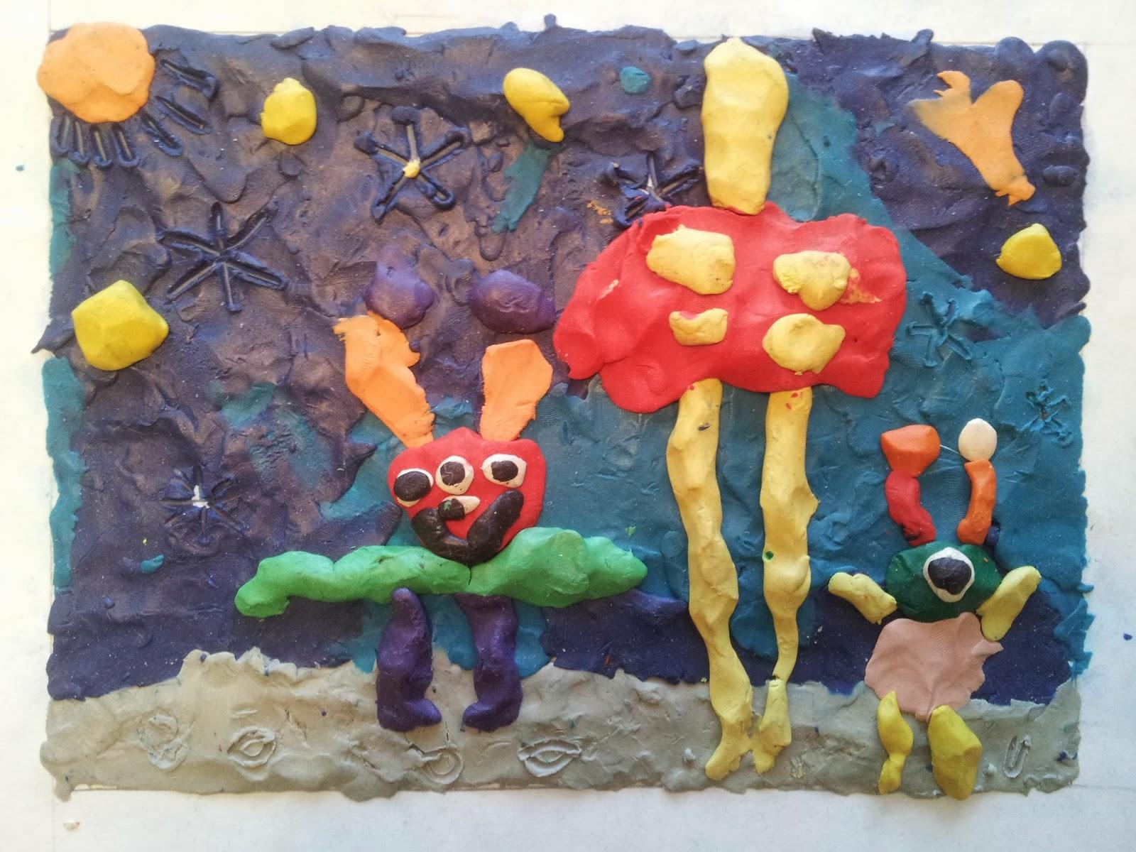 Play Clay Art, crafts, kids crafts, aliens