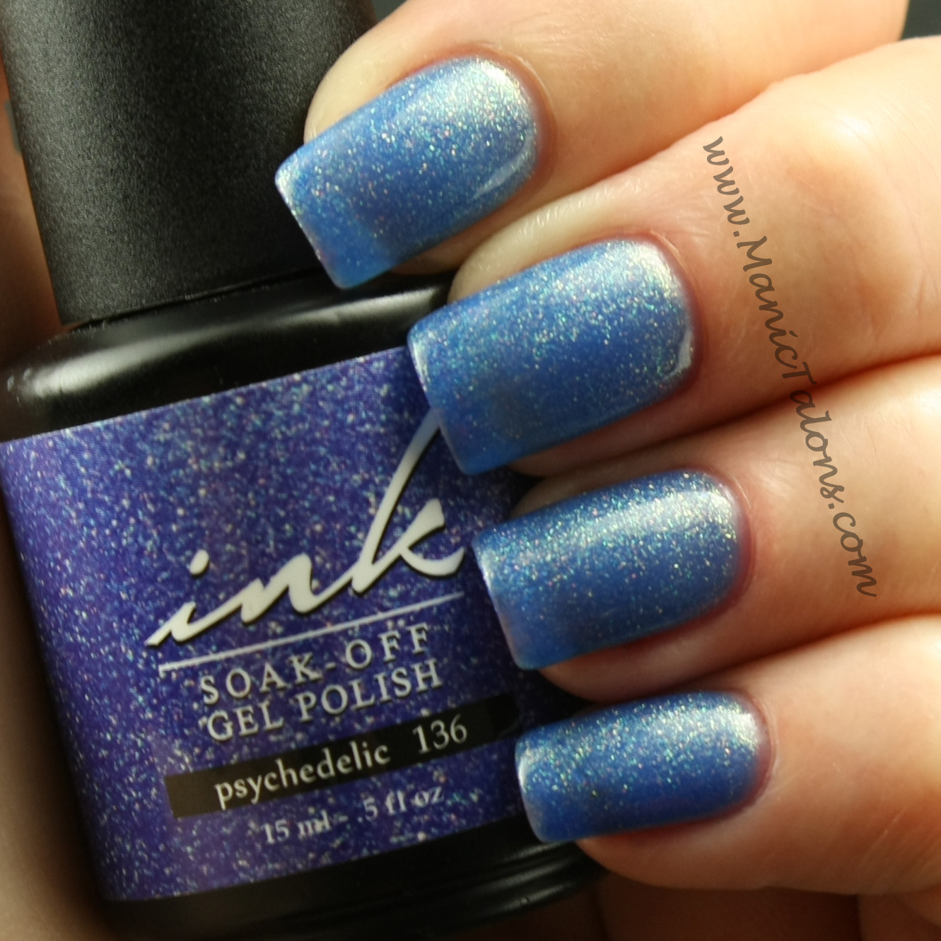 Manic Talons Nail Design: Shimmer packed Jellies by Ink
