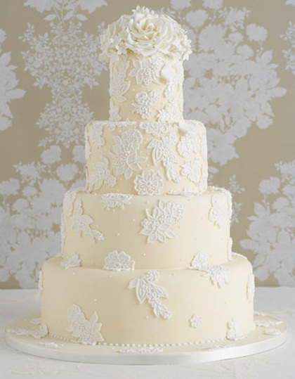 Lace Design Wedding Cake : The Paisley Press: Back in action: Lace at its finest!!!