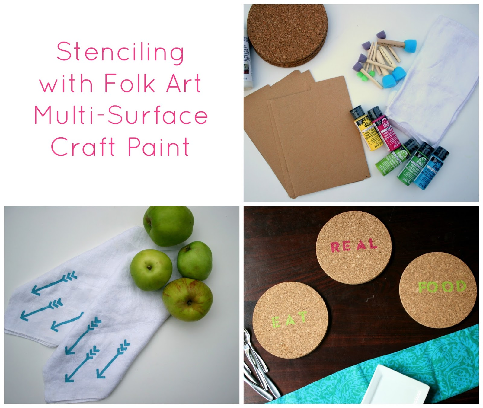 Multi surface pretty paints blogger made stencils and a for Folk art craft paint