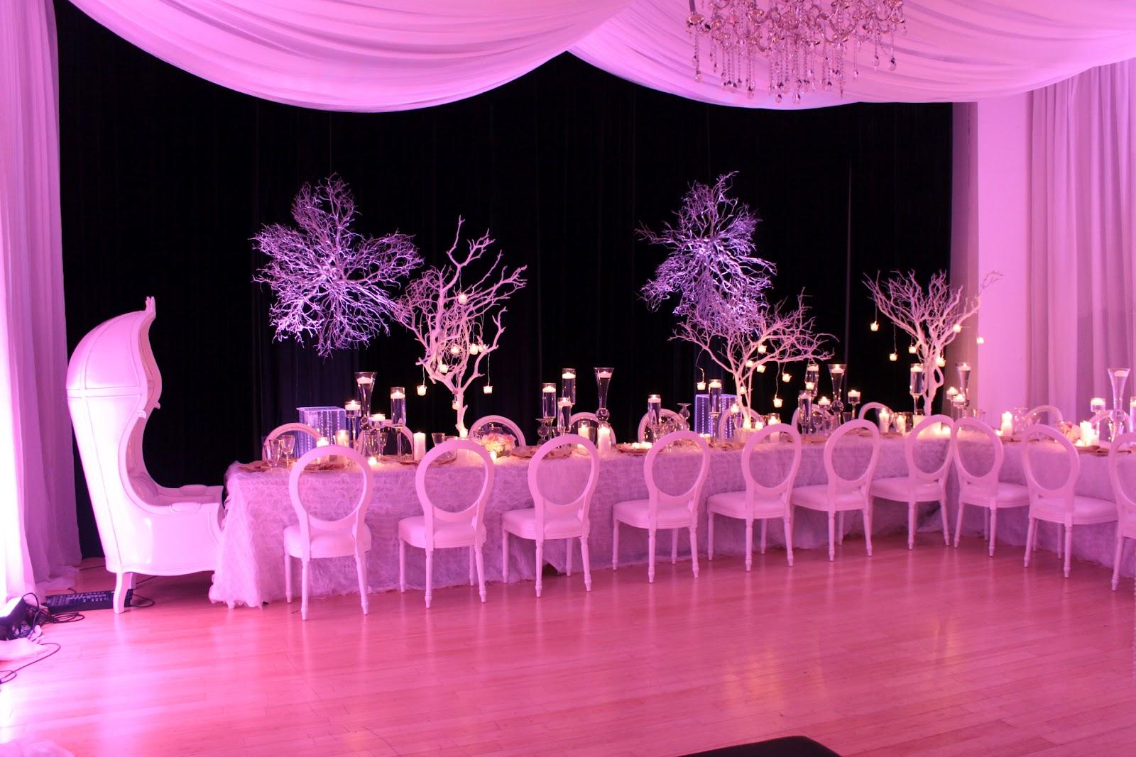 Decor flowers and lighting by us. | Davinci Florist