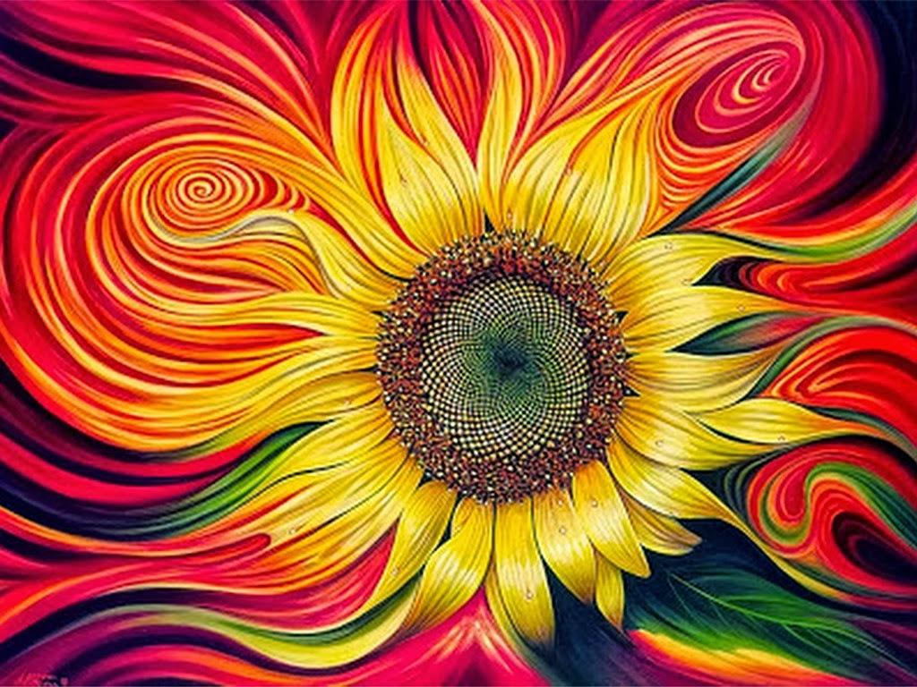 Pintura moderna y fotograf a art stica cuadros de flores for Imagenes de cuadros modernos