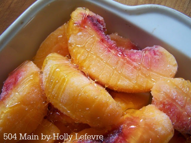 Honeyed Peach Crisp by 504 Main