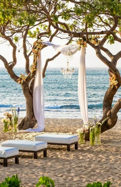 beach wedding arch idea