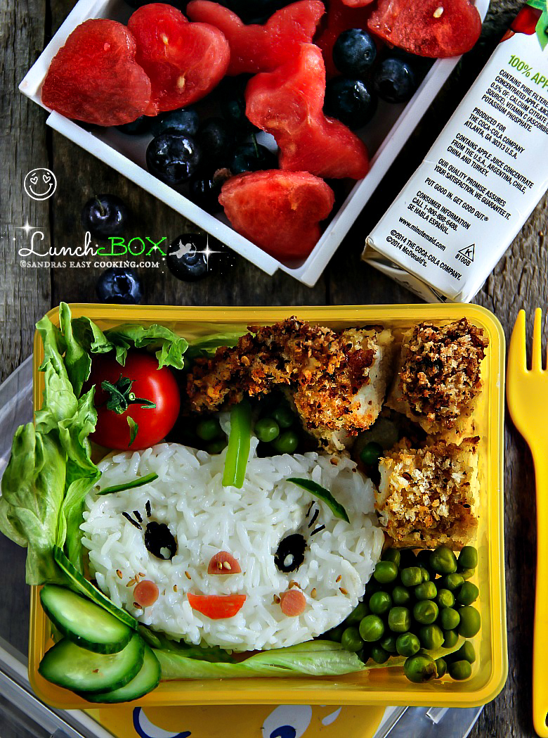 lunch box: oven-baked panko chicken - sandra's easy cooking