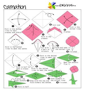 Paper Origami Carnation Paper Origami Guide