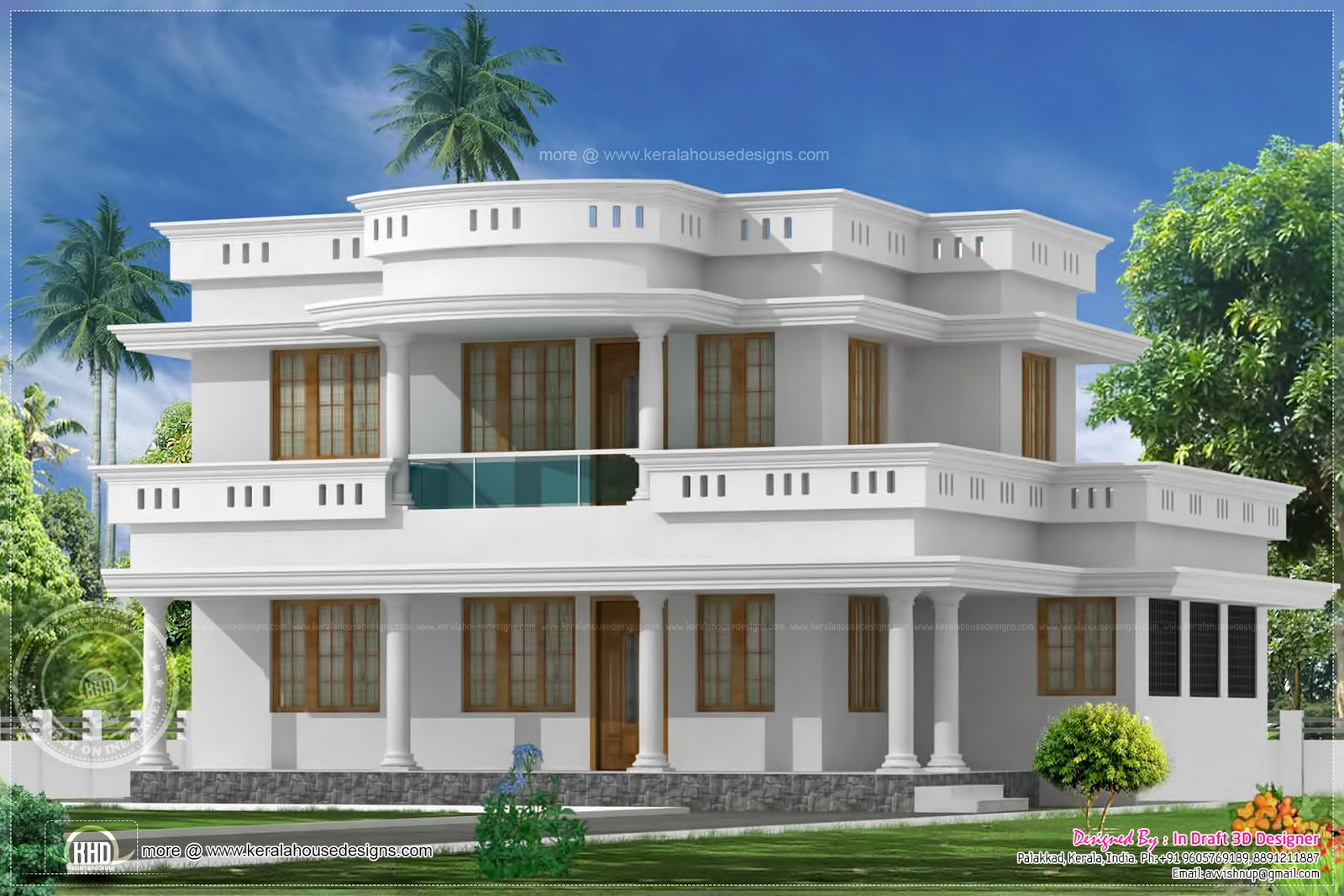 2192 square feet villa exterior design kerala home for Villa design plan india