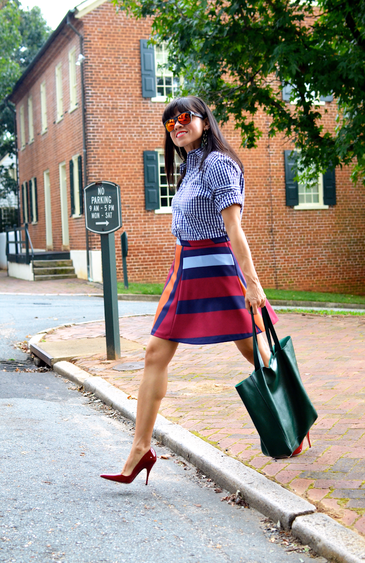 Red Pumps Street Style Outfit
