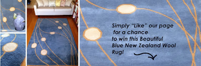 Win a Beautiful 5x8 New Zealand Wool Rug for the Holidays!