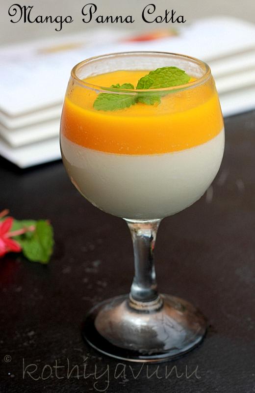 how to make mango panna cotta for pannacotta 1 pour