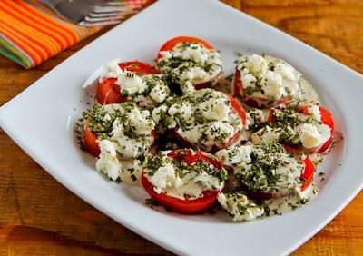 Tomato Salad with Goat Cheese, Basil Vinaigrette, and Fresh Herbs ...