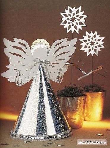 Craftaholic anjo da paz molde decora o de natal for Angel tree decoration template