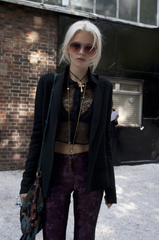 Fashion Week Street Style Abbey Lee Kershaw The Front