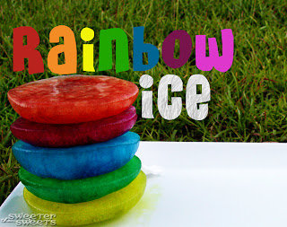Rainbow Ice Tutorial by Tricia @ SweeterThanSweets