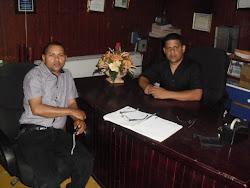 Representante de Edenorte y La Cámara de Comercio y Producción de Sánchez Ramírez se Reúnen